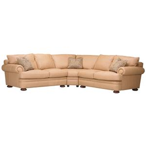 Klaussner Montezuma Leather Sectional Group