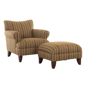 Klaussner Simone Upholstered Chair and Ottoman