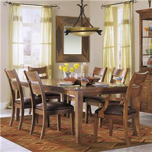 Klaussner International Urban Craftsmen 7-Piece Dining Table Set with 6 Chairs