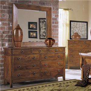 Klaussner International Urban Craftsmen Dresser & Mirror