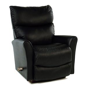 La-Z-Boy Recliners Leather Rocker / Recliner with Flared Arms