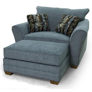 Lancer 90 Chair & 1/2 and Ottoman