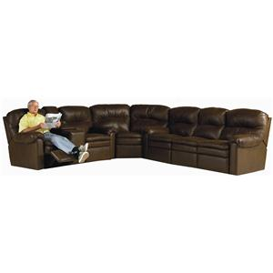 Lane Touchdown Leather Sectional Sofa