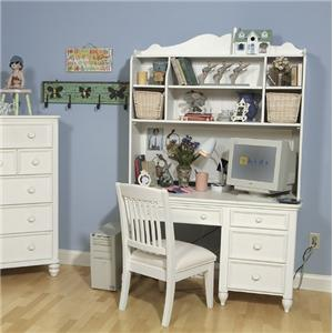 Legacy Classic Kids Summer Breeze Single Pedestal Desk & Hutch