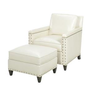 Lexington Lexington Leather Chase Chair and Ottoman