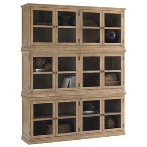 Lexington Monterey Sands Sausalito Glass Door Stacked Curio Cabinet
