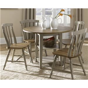 Liberty Furniture Al Fresco 5 Piece Drop Leaf Table and Chairs Set