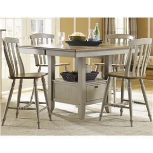 Liberty Furniture Al Fresco 5 Piece Gathering Table and Chairs Set