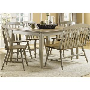 Liberty Furniture Al Fresco 6 Piece Dining Table and Chairs Set
