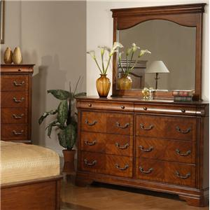 Liberty Furniture Alexandria Dresser and Mirror