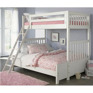 Liberty Furniture Arielle Youth Bedroom Twin Over Full Bunkbed