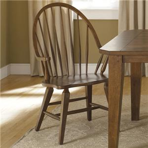 Liberty Furniture Hearthstone Windsor Back Arm Chair
