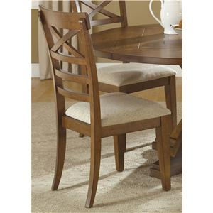 Liberty Furniture Hearthstone X Back Side Chair