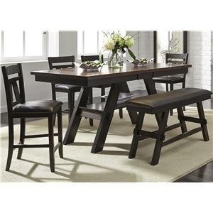 Liberty Furniture Lawson 6 Piece Gathering Table Set