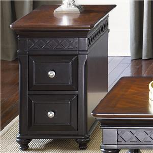 Liberty Furniture St. Ives 2 Drawer Chair Side Table