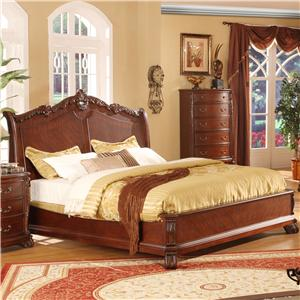 Lifestyle 9642 Queen Panel Bed
