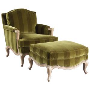 Lillian August Custom Upholstery Sophia Chair & Ottoman