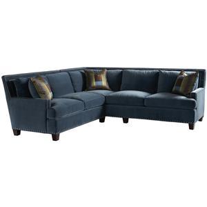 Lillian August Custom Upholstery Smithfield Right Arm Corner Sofa