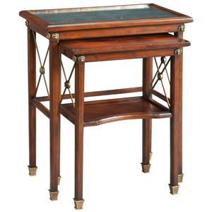 Lillian August Wood Chester Nesting Table