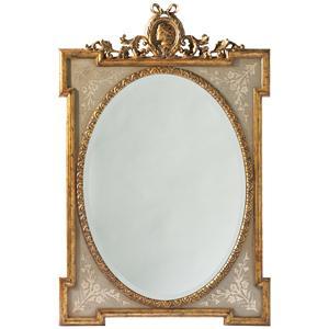 Lillian August Wood Regency Oval Mirror