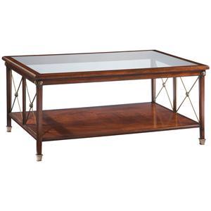 Lillian August Wood Hamilton X Cocktail Table
