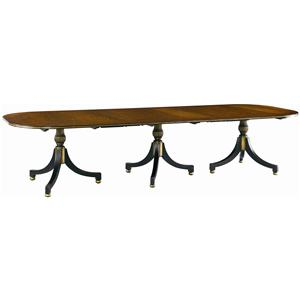 Lillian August Wood Wessex Triple Pedestal Dining Table