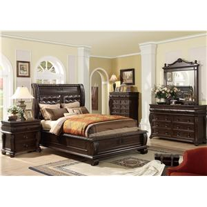 Your Direct Imports, Inc. Hillsboro Hillsboro King 4 Piece Bedroom Group