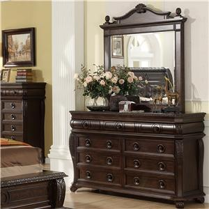 Your Direct Imports, Inc. Hillsboro Dresser and Landscape Mirror