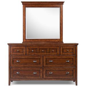 Magnussen Home Harrison Double Dresser and Landscape Mirror
