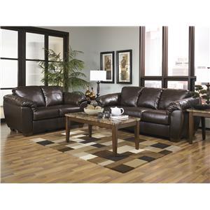 Sig Millennium by Ashley Furniture Franden DuraBlend - Cafe Stationary Living Room Group