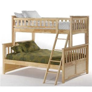 NE Kids Spice Natural Twin/Full Spice Bunk Bed