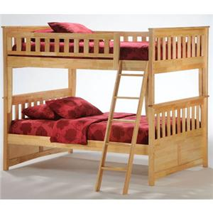 NE Kids Spice Natural Full/Full Spice Bunk Bed