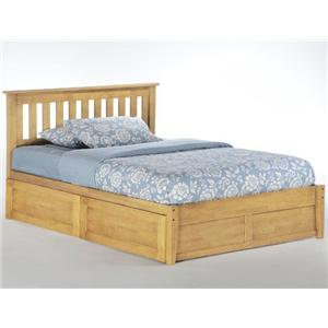 NE Kids Spice Natural Spice Rosemary Bed with Underbed Drawers