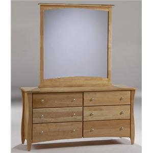 NE Kids Spice Natural Clove 6-Drawer Dresser with Mirror
