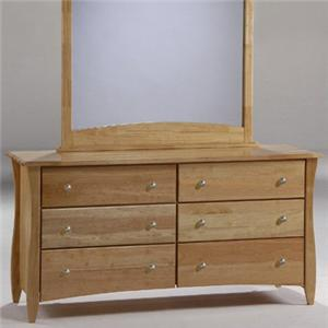 NE Kids Spice Natural Clove 6 Drawer Dresser