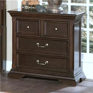 New Classic Timber City 4 Drawer Night Stand
