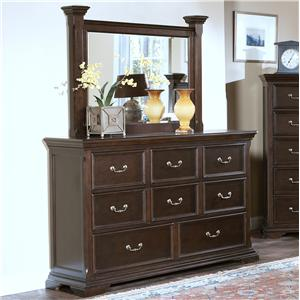 New Classic Timber City Dresser and Mirror Set