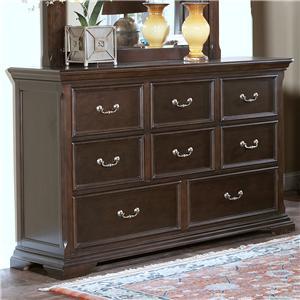 New Classic Timber City 8 Drawer Dresser