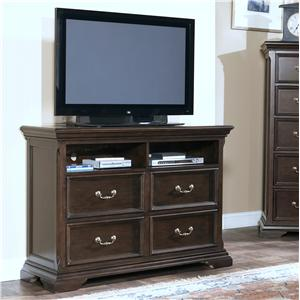 New Classic Timber City Four Drawer Media Chest