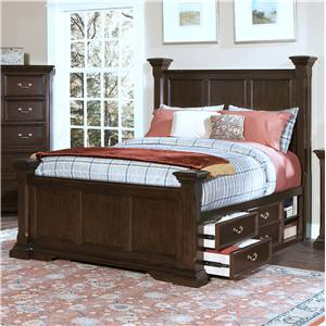 New Classic Timber City Queen Captain's Bed
