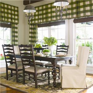 Universal Home Paula's Table w/ Wing Chairs & Side Chairs