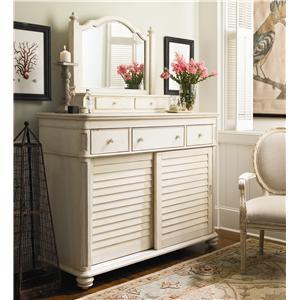 Paula Deen by Universal Paula Deen Home The Lady's Dresser & Storage Mirror