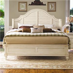 Universal Home Queen Steel Magnolia Bed