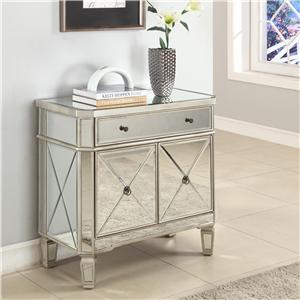 Powell Miscellaneous Mirrored Console