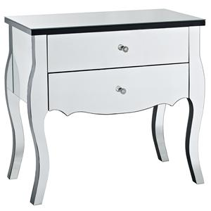 Powell Miscellaneous Mirrored 2 Drawer Console