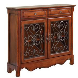 Powell Miscellaneous Light Cherry Console Cabinet