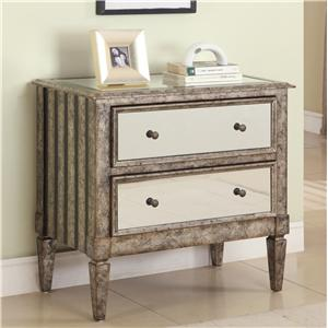Powell Miscellaneous 2-Drawer Mirrored Chest
