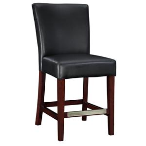 Powell Powell Cafe Black Bonded Leather Counter Stool