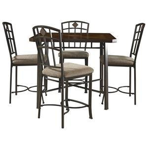 Powell Powell Cafe 5 Piece Jefferson Pub Table Set