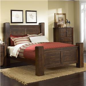 Progressive Furniture Trestlewood Queen Post Bed